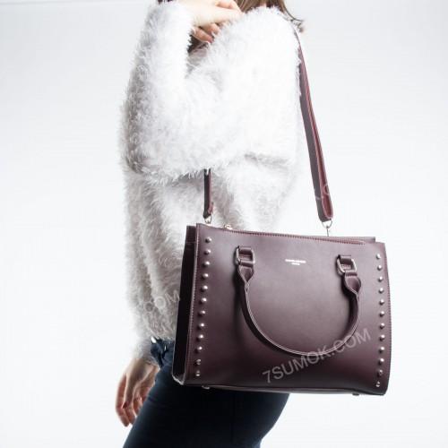 Жіноча сумка 5822-2T dark bordeaux