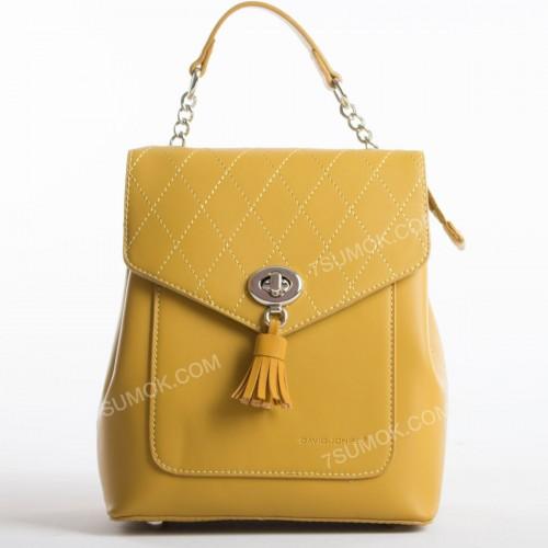 Жіночий рюкзак 6209-2T mustard