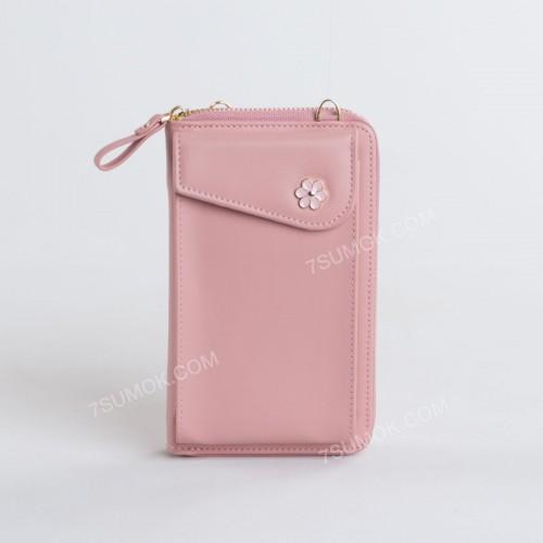 Гаманець-клатч 7106 pink