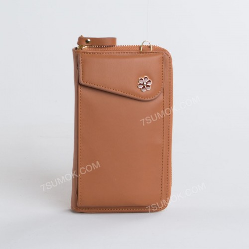 Гаманець-клатч 7106 brown