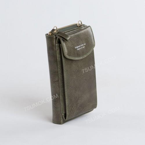 Гаманець-клатч 7103 green