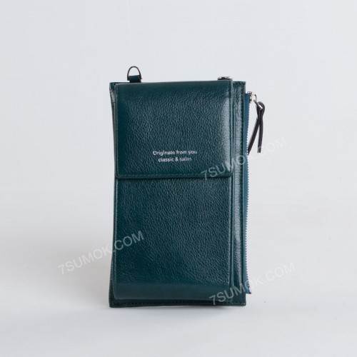 Гаманець-клатч D1010 green