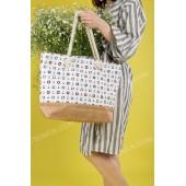 Пляжна сумка 9918 white-b