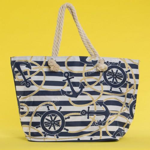 Пляжна сумка 20-76 white-blue