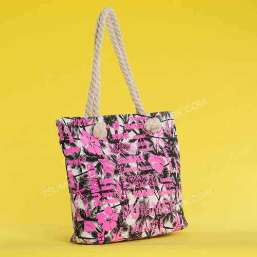 Пляжна сумка 20-40 beige-pink