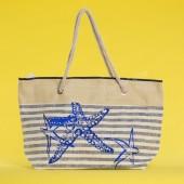 Пляжна сумка 20-80 beige-blue