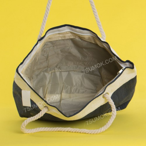 Пляжна сумка 20-78 blue-white