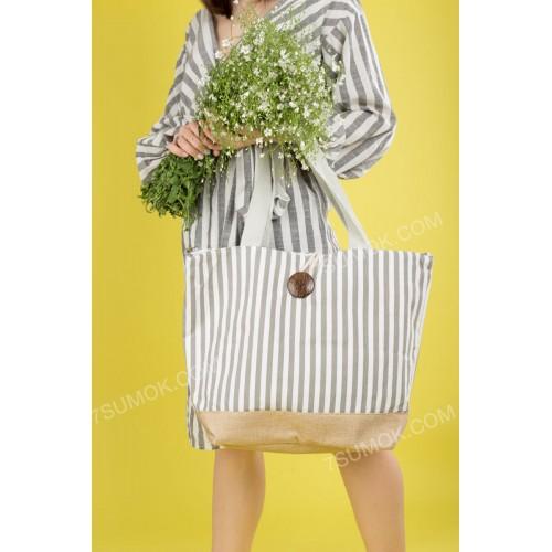 Пляжна сумка 20-44 white-gray