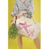 Пляжна сумка 20-80 beige-pink