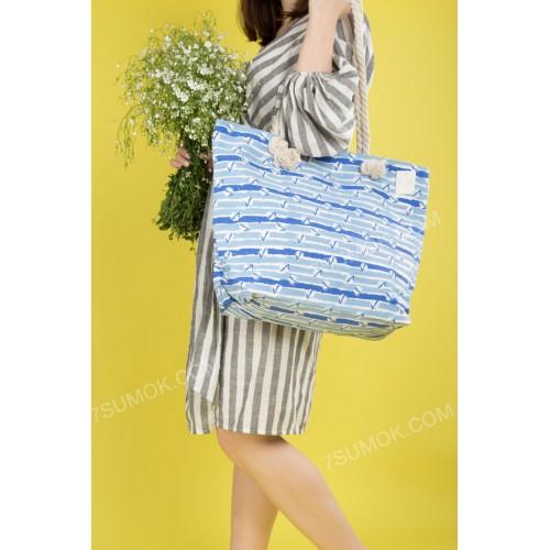 Пляжна сумка 20-67 light blue