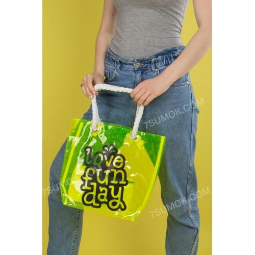 Пляжна сумка 1919-2 neon green
