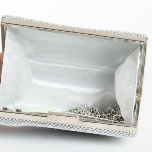 Вечірній клатч V4083 silver