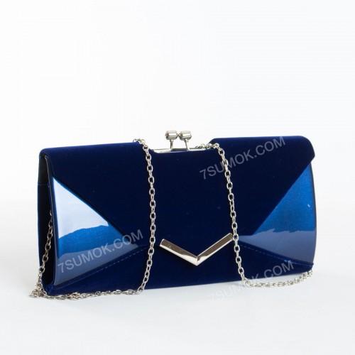 Вечірній клатч BG002 blue