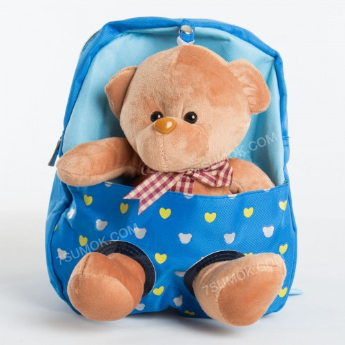 Дитячий рюкзак-іграшка 605 light blue