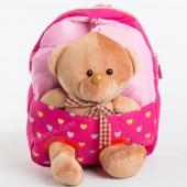 Дитячий рюкзак-іграшка 605 dark pink