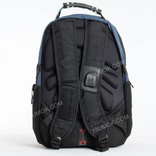 Чоловічий рюкзак 6620 black-blue