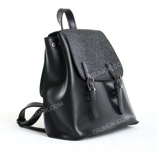 Жіночий рюкзак R013 mini black-sneg