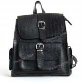 Жіночий рюкзак R011 black-crocodile-full