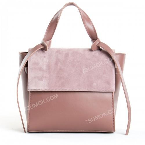 Жіноча сумка 037 big pink-zamsha