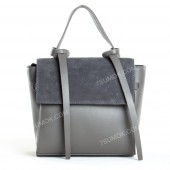 Жіноча сумка 037 big gray-zamsha