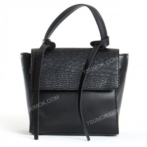 Жіноча сумка 037 big black-crocodile