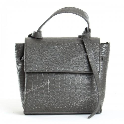 Жіноча сумка 037 big gray-crocodile