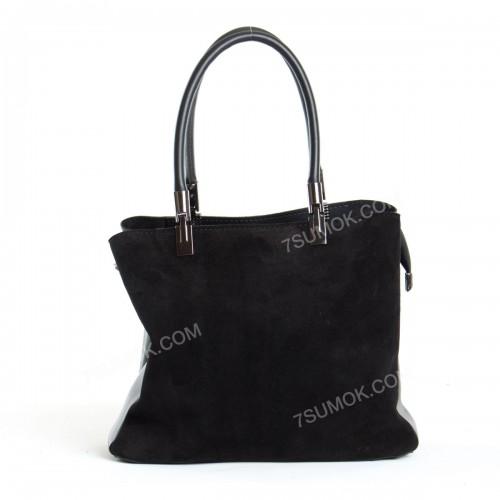 Жіноча сумка 2003 black-zamsha