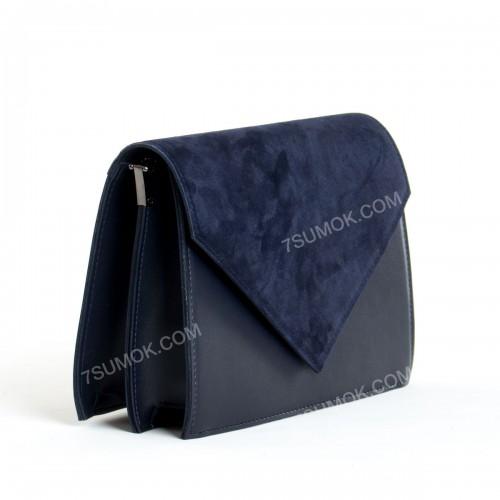 Клатч 042 blue-zamsha
