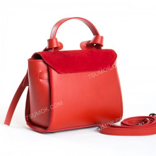 Клатч 037 mini red-zamsha
