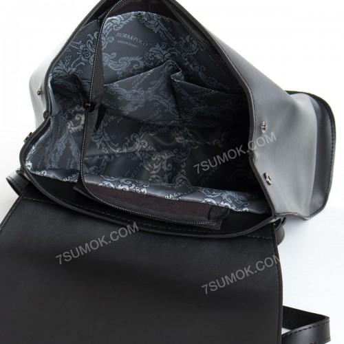 Жіночий рюкзак R013 big black-crocodile