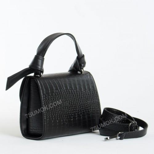 Клатч 238 black-crocodile