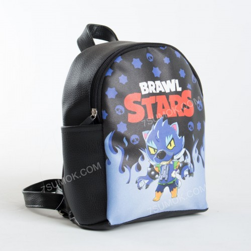Дитячий рюкзак NW1023 Brawl Stars black-d