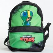 Дитячий рюкзак NW1024 Brawl Stars Leon black-green