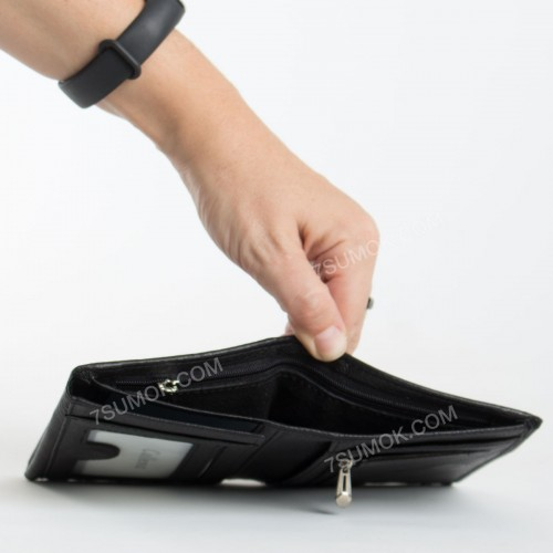 Чоловічий гаманець 01-408 black