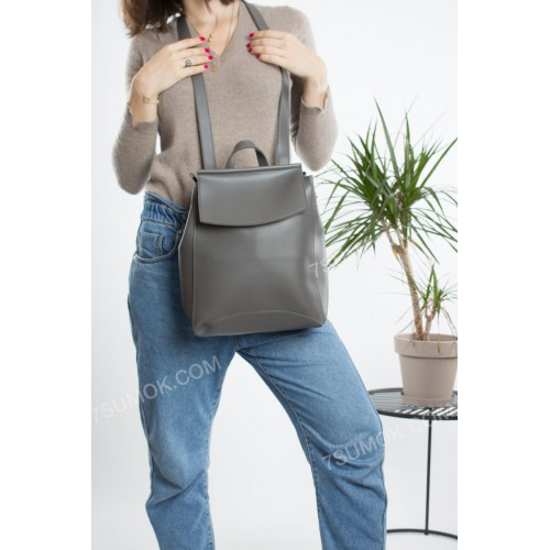 Жіночий рюкзак 024 gray