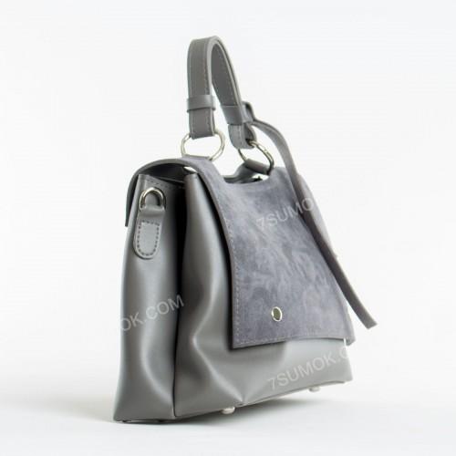 Клатч 075 gray-zamsha