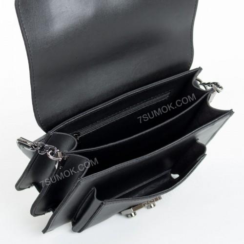 Клатч 089 black-zamsha