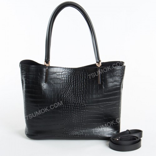 Жіноча сумка 010N black-crocodile