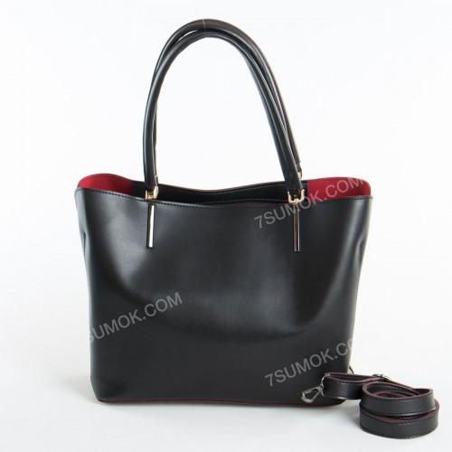 Жіноча сумка 010N black-red