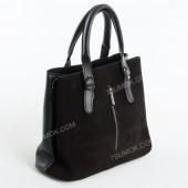 Жіноча сумка 111S black-zamsha
