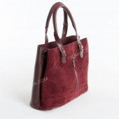 Жіноча сумка 111S bordo-zamsha