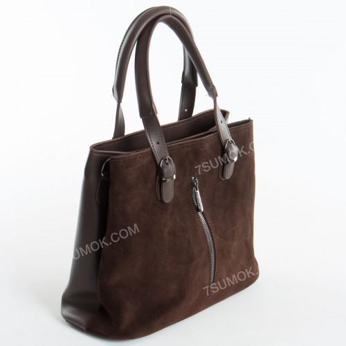 Жіноча сумка 111S coffee-zamsha