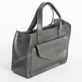 Жіноча сумка 064 gray-crocodile