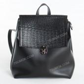 Жіночий рюкзак R017 black-crocodile-kombi