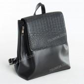 Жіночий рюкзак R014 black-crocodile-kombi