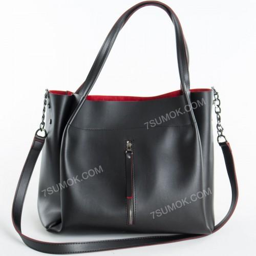 Жіноча сумка 08 black-red