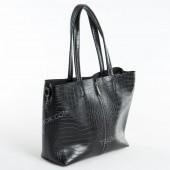 Жіноча сумка 100 black-crocodile