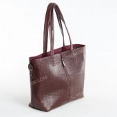 Жіноча сумка 100 bordo-crocodile