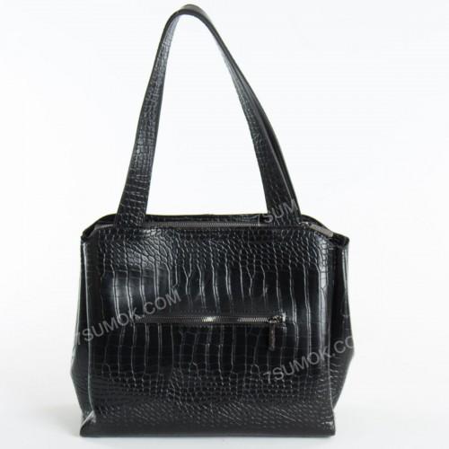Жіноча сумка 084N black-crocodile