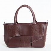 Жіноча сумка 096 bordo-crocodile-kombi